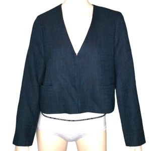 Club Monaco Textured Manteaux Teal Jacket NWT